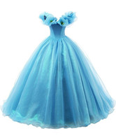 Baby Blau Prinzessin Mädchen Bodenlangen Ballkleider Cinderella Blumen Schmetterling Pageant Kleider Nach Maß Organza Eine Linie V-Ausschnitt Kleid
