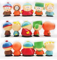 5 pz / set 2017 Hot South Park Stan Kyle Eric Kenny Leopard PVC Action Figure Giocattoli per i bambini regalo 5.5 cm