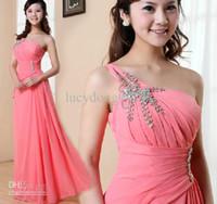 Neuer billiger heißer Verkauf One Schulter Pailletten verzierte elegante formale Abendkleid Brautjungfernkleider / Hochzeits-Parteikleider