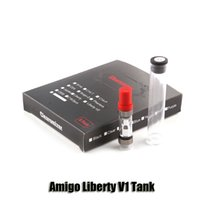 100% Original iTsuwa Amigo Liberty V1 Tank 0.5 / 1.0ml Top Airflow 510 Oil Bud Touch Vaporizer Cartridges