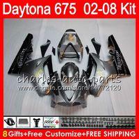 schwarz 8 Geschenke 23 Farben für Triumph Daytona 675 02 03 04 05 06 07 08 Daytona675 4HM7 Daytona 675 2002 2003 2004 2005 2006 2007 2008 Verkleidung