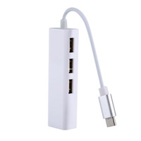 Freeshipping Тип C до 3 портов RJ45 Ethernet USB 2.0 концентратор сетевой адаптер кабель для USB Type-C устройств для компьютера белый кабель