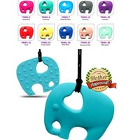 Baby food grade Silicone Teether Solid Color Cute Elephant S...