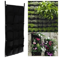 New 18 Pockets 50cm*100cm Hanging Plant Pots Wall Pot Vertic...