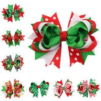 Новая Мода 13 Стили Рождественские Украшения Бантом Шпилька Головной Убор Шпилька Рождество Снежинка Лук Зажим Для Волос Бесплатная Доставка