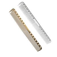 مشط لتصفيف الشعر بالألمنيوم عالي المستوى ، مشط حلاقين متخصصين في قص الشعر ، واستخدام لقطع الشعر الطويل والشعر القصير