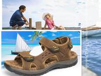 Vendita calda nuova moda estate per il tempo libero spiaggia uomo scarpe sandali in pelle di alta qualità i grandi iardari sandali da uomo dimensione scarpe europee: 38-44