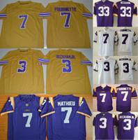 ... College LSU Tigers jersey 7 Leonard Fournette Tryann Mathieu 33 3 Odell  Beckham JR College Jerseys ... 1fafa5948
