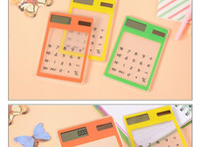 울트라 얇은 터치 스크린 계산기 투명 / 태양 / 투명 계산기 / 카드 계산기