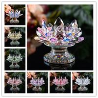 Kristal Cam Lotus Çiçek Mumluklar düğün sütunları şamdan centerpieces Tutucu Ev Dekor kase Şamdan