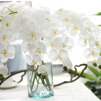 5pic الأزياء السحلية الزهور الاصطناعية diy الاصطناعي فراشة الأوركيد الحرير وهمية الزهور باقة فالاينوبسيس الزفاف تزيين المنزل