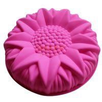 كعكة السيليكون الكبيرة بالجملة قالب الحلوى يصهر عباد الشمس الكبيرة التي تصمم قالب المعجنات SCM-003-3