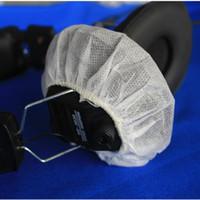 Freies Verschiffen 100pack des weißen nichtgewebten gesundheitlichen Kopfhörers bedeckt Wegwerfvlies 12cm Kopfhörer-Ohrenschützer bedeckt 100pcs / lot