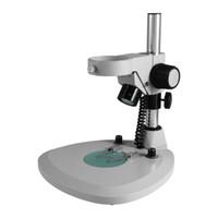 ZJ-306 76 millimetri LED illuminato Messaggio basamento del microscopio stand Platen di tipo trasparente di colore platina smerigliato vetro smerigliato