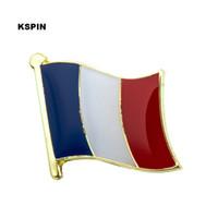 Бесплатная доставка Франция Металл Флаг Значок Флаг Pin KS-0057