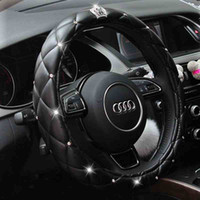 Crystal Crown Rhinestone covered Car Steering Wheel Cover Le...
