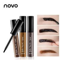 NUOVA Eye Brow Tatuaggio Tint impermeabile a lunga durata Peel Off Dye sopracciglia Crema Gel Mascara Make Up Pen cosmetici coreani NOVO Eye Makeup 12PCS