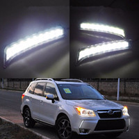 2PCS / SET SUBARU 포레스터 2013 2014 디밍 스타일 릴레이 9 칩 자동차 LED 빛