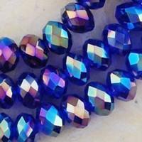 무료 배송 1000pcs 도매 아름다운 4x6mm 블루 AB 스와 로브 스키 크리스탈 보석 느슨한 구슬 구슬