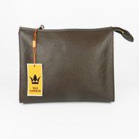 حار بيع سيدة المكياج الحقيبة التجميل المكياج حقيبة مخلب النساء المرحاض الحقيبة 26 M47542 جلد حقيقي محفظة 19 للماء حقيبة سفر