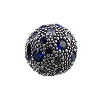 2017 новый летний свободные бусины оригинал 100% стерлингового серебра 925 клип бисер подходит для Pandora браслет ювелирные изделия с Синий Циркон diy подвески