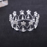 Hot Sale Tiaras Mini Crystal Rhinestone Round Circle Tiara C...