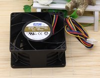 Оригинальный AVC 2B08038B48U 8038 48V 0.58A 8см 4 линии PWM двойного шар вентилятор