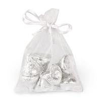 100шт. Белые органзы, упаковочные пакеты, ювелирные мешочки, свадебные сувениры, рождественская вечеринка, подарочная сумка 10 х 15 см (3,9 х 5,9 дюйма)