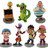 Lotto di 7 pezzi Captain Jake e The Never Land Pirates Action Figure PVC Play Set TOY Lzzy Doll Figurine Cake Topper Gift