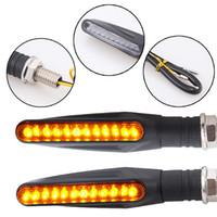100pcs / lot universel 12 LED moto Turncalcles de tour clignotants Clignotants Amber Lampadaire 12V Moto Lights Pièces