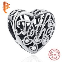 BELAWANG fit Pandora Bracelet&Necklace DIY Making Heart Shap...