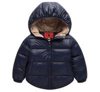 Ragazzi invernali Capispalla in cotone solido Girl Coat Cappotto neonato Snowsuit Neonato Infante Bambini Inverno-Abbigliamento Giacca per bambini