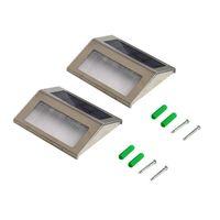 Wasserdichte LED Solarlicht Lampen Solar LED Flutlichter 2 LEDs Gartenlichter Outdoor Landschaft Rasenlampe Solarwandlampen