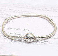 Fit pandora bow bracelet in 925 silver women snake chain bra...