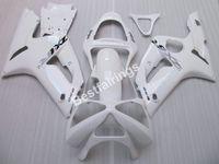 Gratuit 7 cadeaux kit carénage pour Kawasaki Ninja ZX-6R 03 04 carénages moulage par injection blanc serti ZX6R 2003 2004 UY33