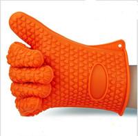 Silikon Küche waschen Kochhandschuhe Mikrowelle rutschfeste Mitt hitzebeständig Silikon Home Glove Kochen Backen BBQ Handschuhe Halter