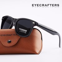 Wholesale- Eyecrafters Driving Mirrored Square Retro Sunglasses Eyewear Moda Vintage Mens Womens Polarized Occhiali da sole UV400 2140