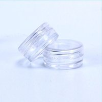 2 ml/2 GRAM cosmetico Vaso di plastica vaso 28x13MM Coperchio a vite trasparente rotondo Formato del campione per cosmetici crema ombretto unghie in polvere gioielli e-liquido