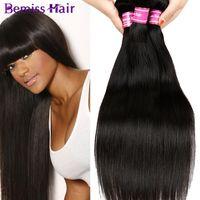 2017 горячие продажи Bemiss необработанные девственные человеческие волосы плетет бразильский малайзийский Индийский перуанский влажные и волнистые пучки человеческих волос естественный черный