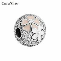 Sterling-Silver-Sieraden Kralen Voor Sieraden Maken DIY Fit Pandora Armbanden Perlas Charms Poëtische Blooms Clips Berloque Cabochon