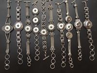 Оптовая ассорти смешанные стили 18 мм взаимозаменяемые оснастки очарование кнопки старинные манжеты браслеты DIY ювелирных изделий новый