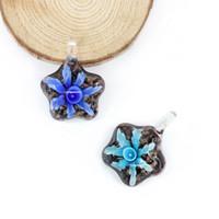 Pendentifs en verre de murano pour la fabrication de bijoux bricolage 12 pièces / boîte pour la fabrication de bijoux bricolage MC0102
