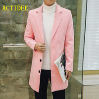 Wholesale- 2016 Winter British Style Long Wool Trench Coat Men Single Breasted Men's Jacket  Casual Overcoat 5XL 4XL 3XL