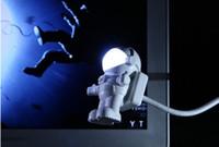 100pcs USB LED Light Lamp Flessibile Neck Spaceman Astronauta Led Light Reading Nightlight Nootbook Computer portatile 0001