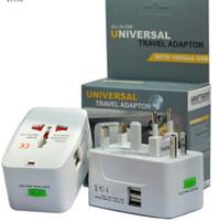 1 و Double USB الكل في واحد السفر شاحن الجدار العالمي محول الطاقة المكونات الدولية محول التوصيل (UK UK EU AU AC المكونات