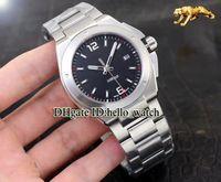 2018 Nueva Ingenieur Familia Automática Mission Earth IW323604 Negro Dial Reloj para hombre Banda SS Cristal de zafiro Marca Hombres Relojes deportivos