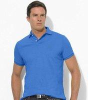 새로운 2019 브랜드 남성 빅 말 자수 폴로 셔츠 브랜드면 짧은 소매의 고급 폴로 화이트 칼라 남성 고품질 폴로 셔츠 S-6XL