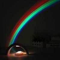 Touch Type LED Lumière Creative Simple chanceux Rainbow Projection Lampe Incandescent Dans Le Dark Plastic Lampes De Nuit Projecteur Populaire 21 5sl B R