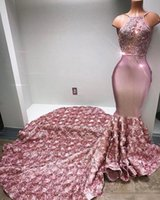 Dusty Pink Spaghetti Prom Dresses With Flora Long Train 2018...