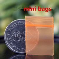 Orange Mini Miniature Zip Lock Grip Plastic Packaging Bags F...
